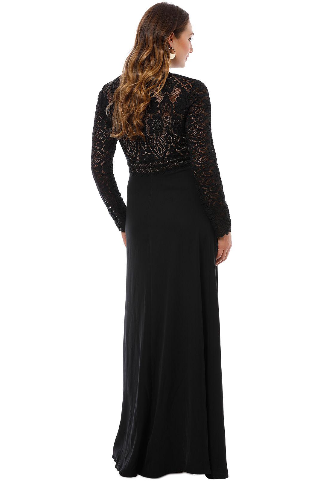 Tadashi Shoji - Benes Long Sleeve Gown - Black - Back