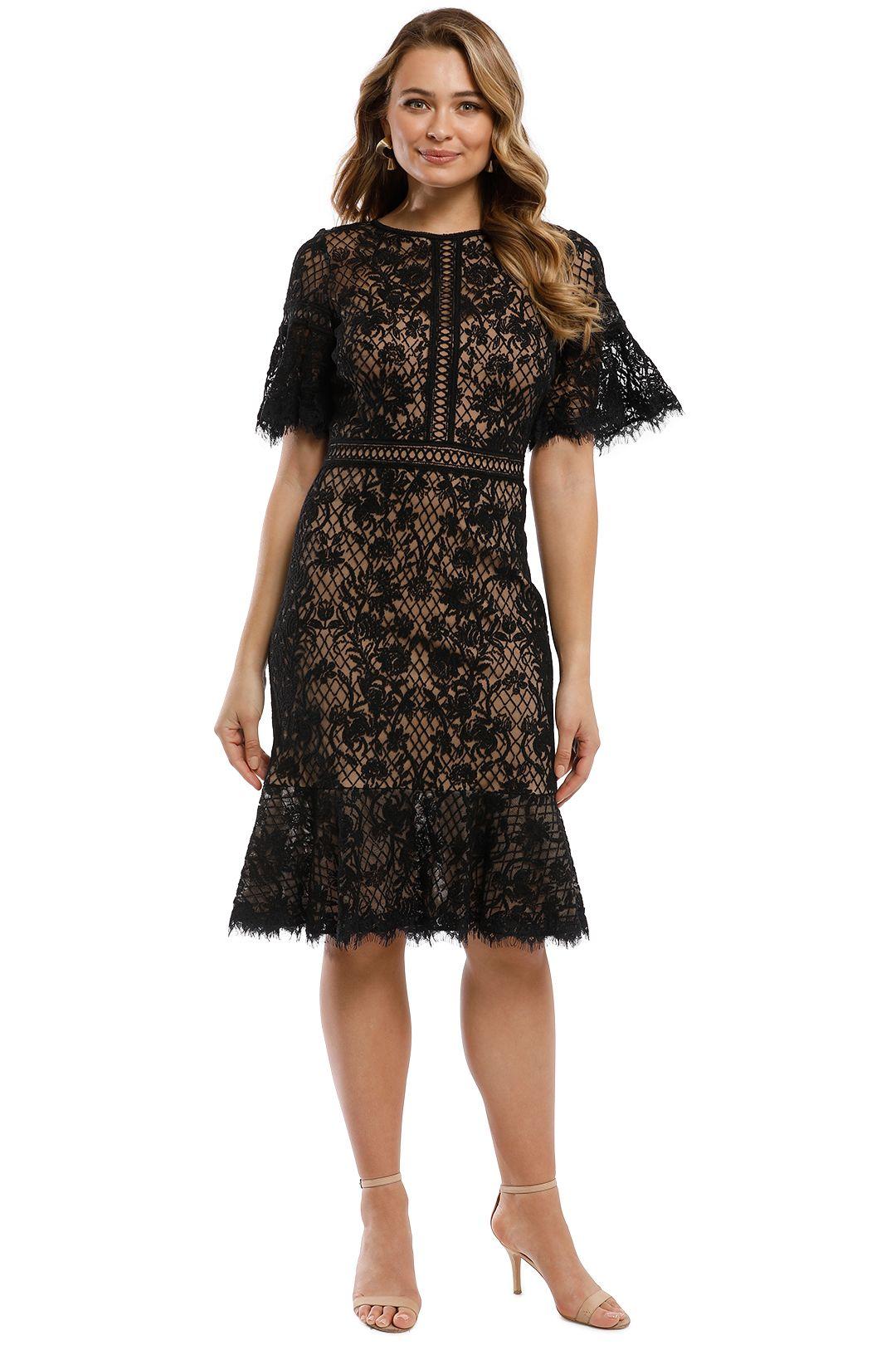 Tadashi Shoji - Mirabelle Embroidered Dress - Black - Front