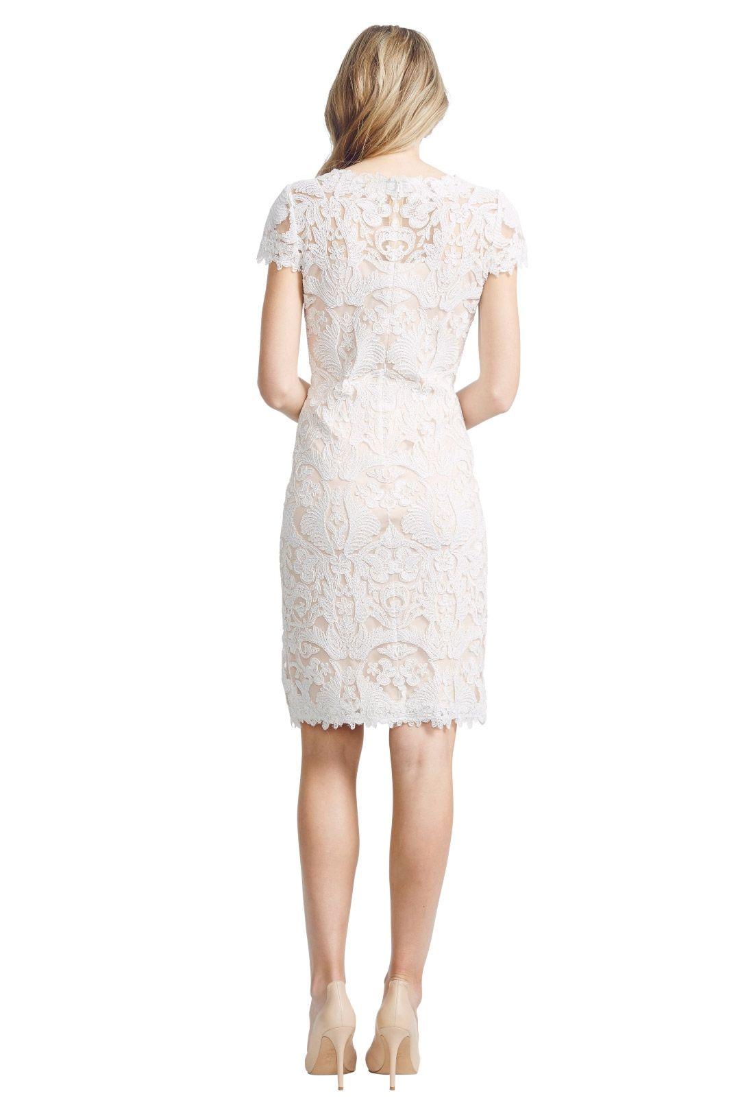 Tadashi Shoji - White Corded Lace - White - Back