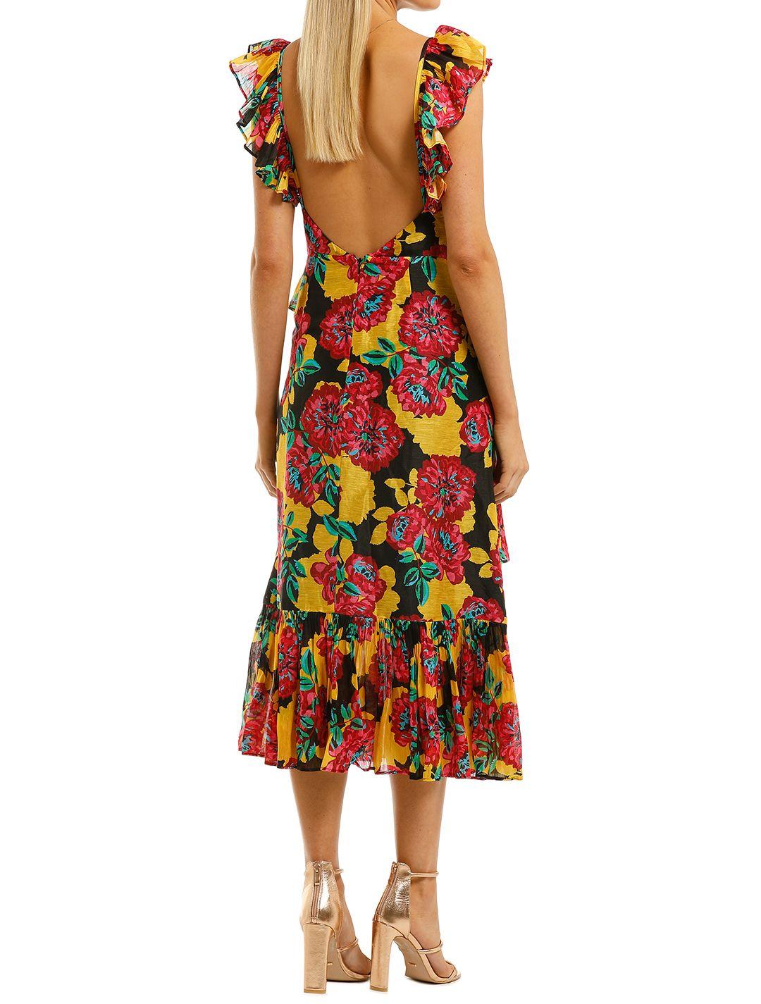 Talulah-Barcelona-Bloom-Midi-Dress-Bright-Bloom-Back