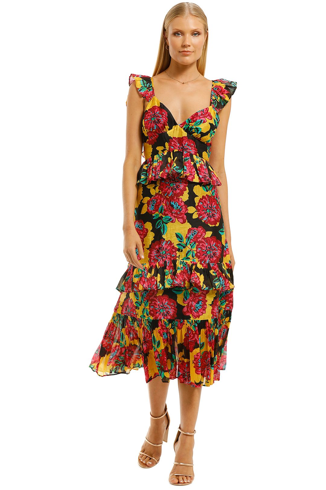 Talulah-Barcelona-Bloom-Midi-Dress-Bright-Bloom-Front