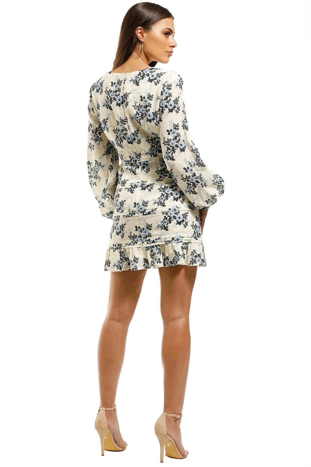Talulah-Blue-Belle-Mini-Dress-Floral-Back