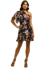 Talulah-Cabana-Nights-Mini-Dress-Black-Floral-Front