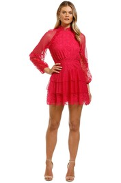 Talulah-Fuscia-Delight-Mini-Dress-Fuscia-Embroidery-Front