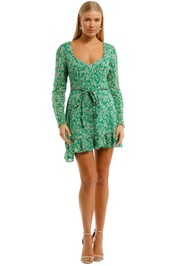 Talulah-Green-With-Envy-LS-Mini-Dress-Green-Front