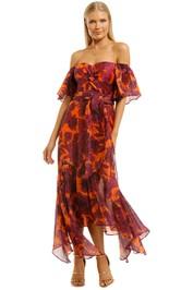 Talulah-Las-Palmas-Midi-Dress-Sahara-Floral-Front