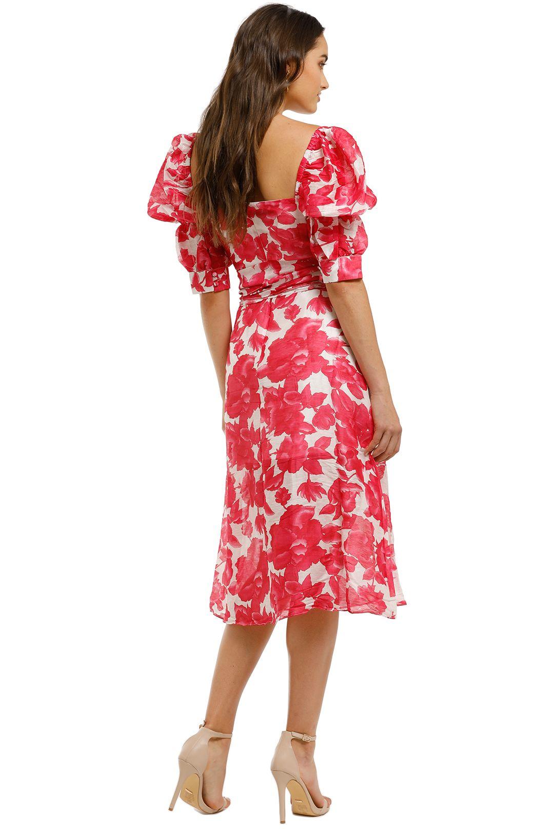 Talulah-Martini-Midi-Dress-Raspberry-Martini-Floral-Back