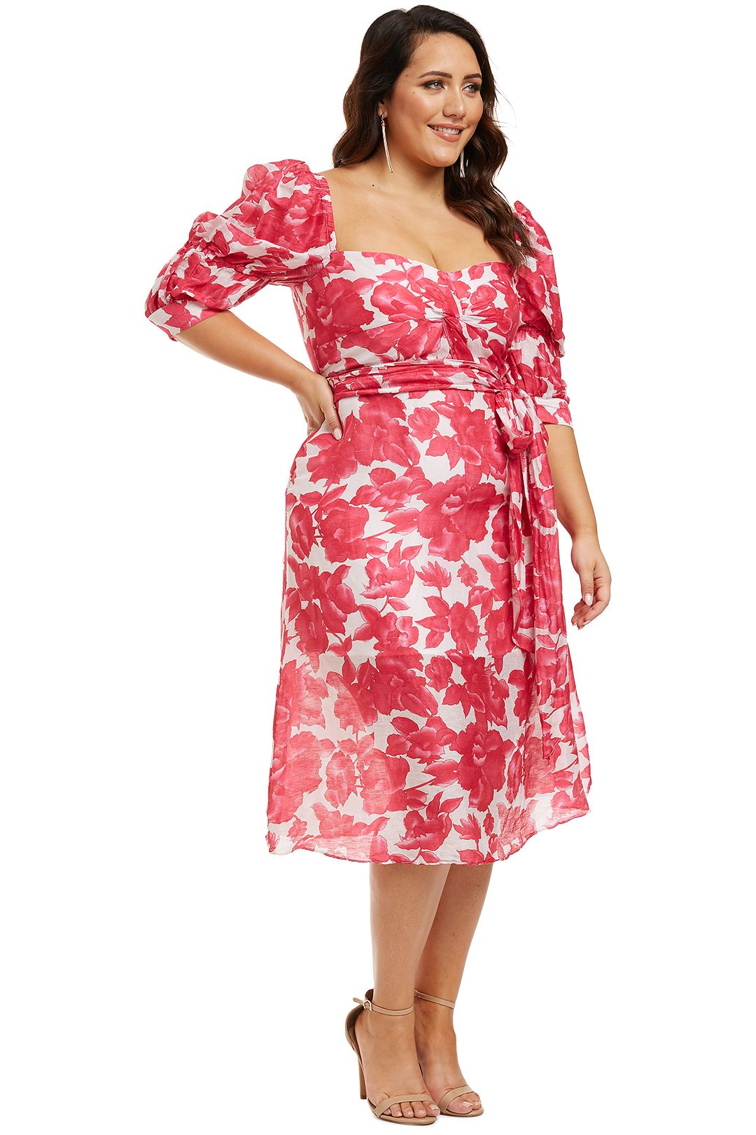 Talulah-Martini-Midi-Dress-Raspberry-Martini-Floral-Side