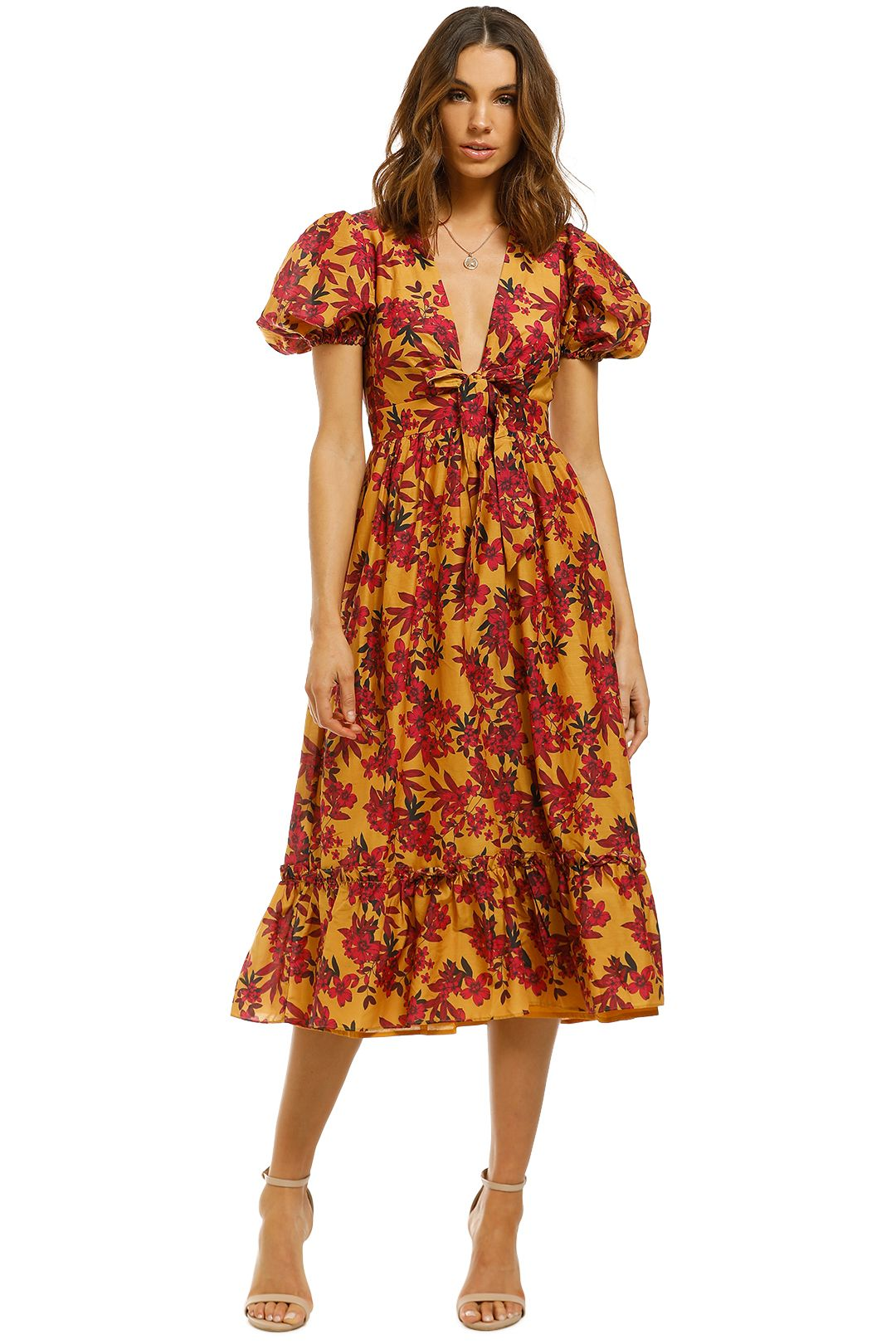 Talulah-Red-Sea-Midi-Dress-Burgundy-Floral-Front