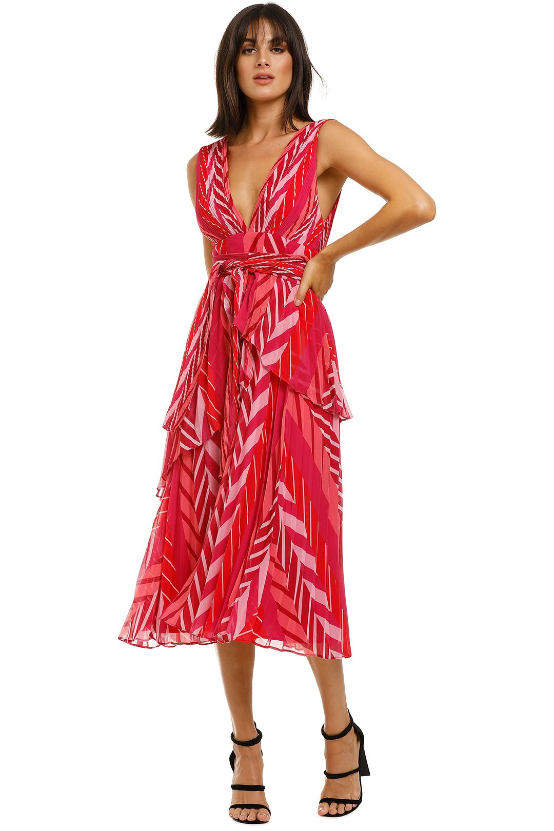 Talulah-Sugar-and-Spice-Midi-Dress-Tango-Stripe-Front
