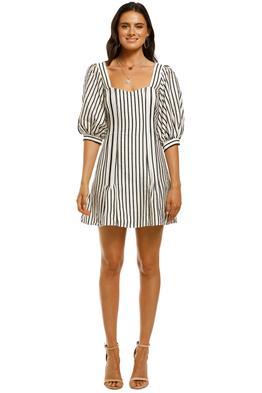 Talulah-Wild-Honey-Mini-Dress-Ecru-and-Green-Stripe-Front