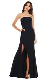 Talulah - Bias Gown - Black - Front