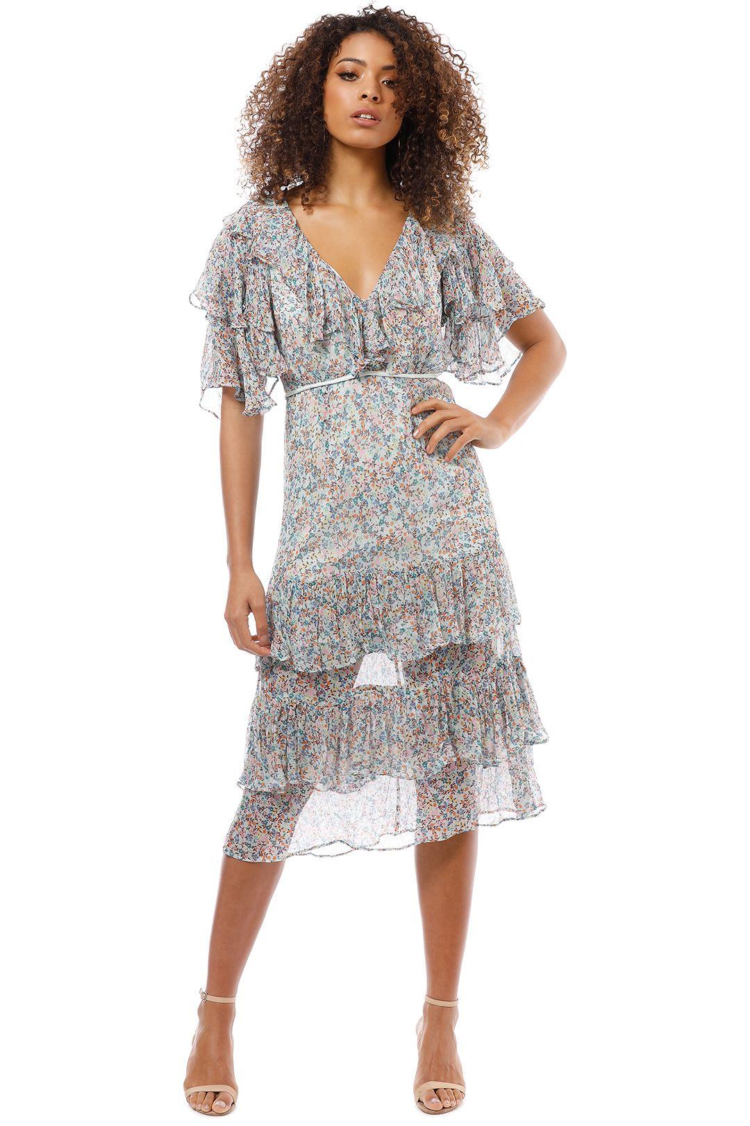 Talulah - Bouquet Midi Dress - Floral Print - Front