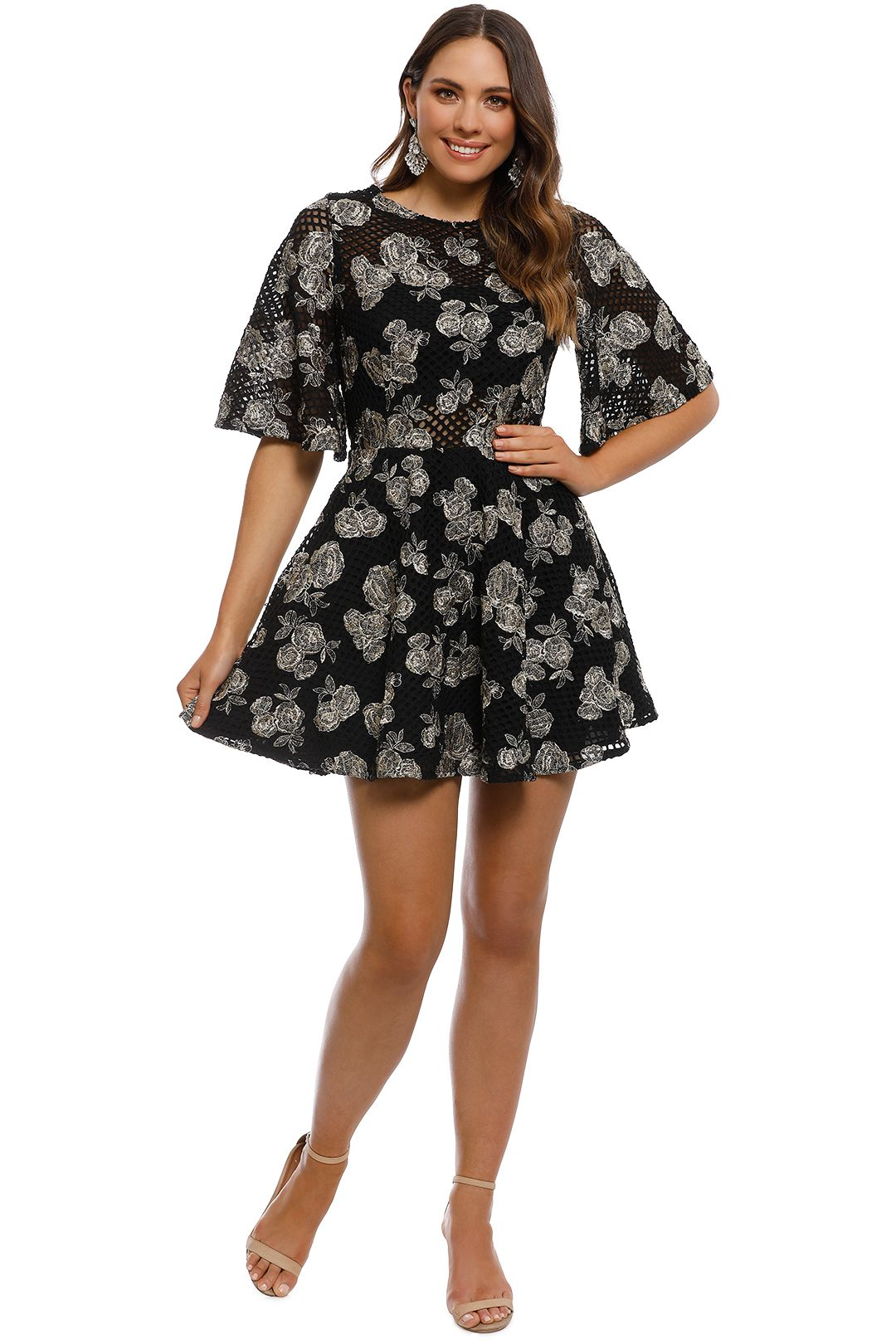 Talulah - Brazen Mini Dress - Black - Front