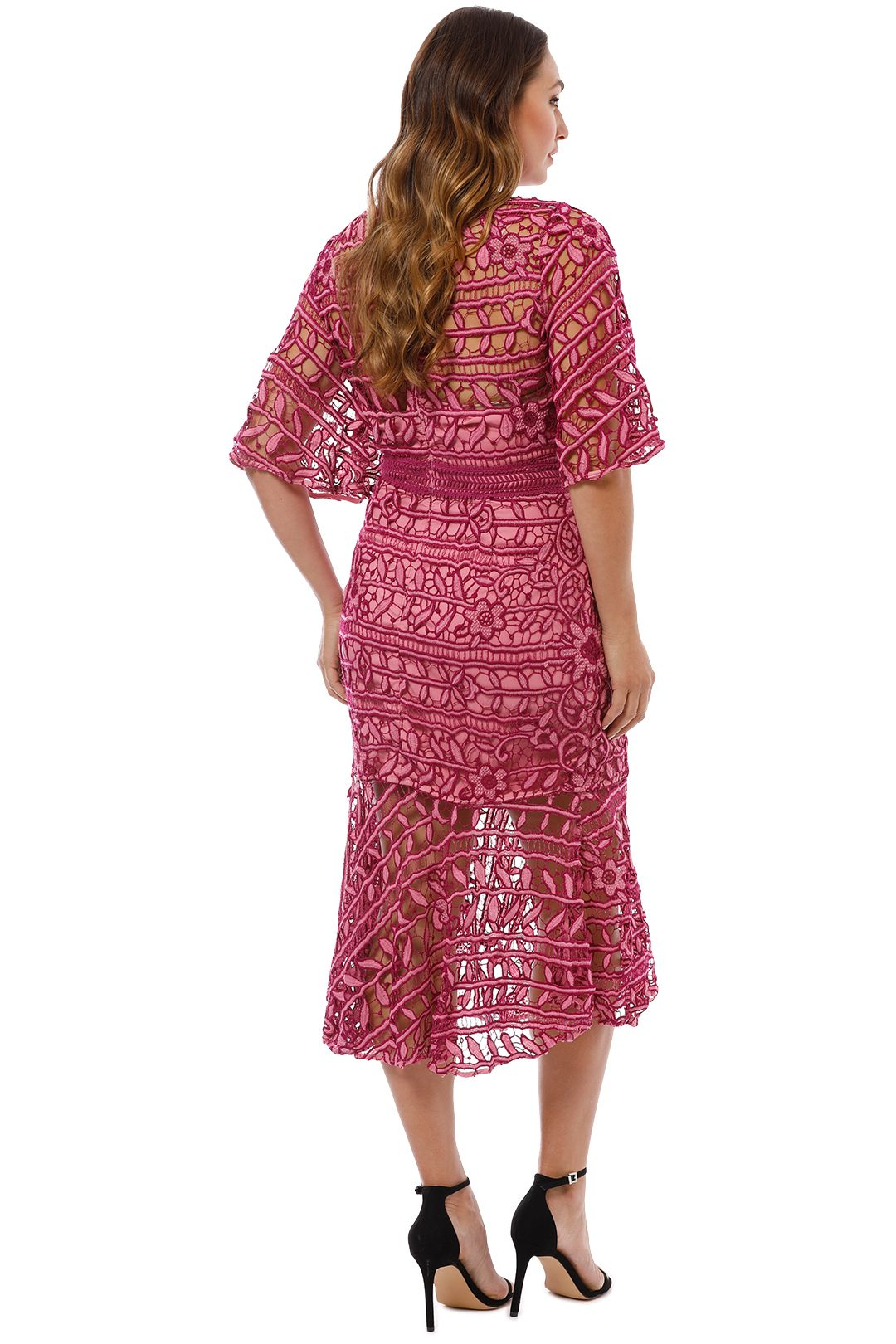 Talulah - Caprice Midi Dress - Pink Multi - Back