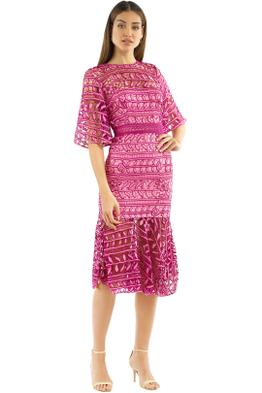 Talulah - Caprice Midi Dress - Pink Multi - Front