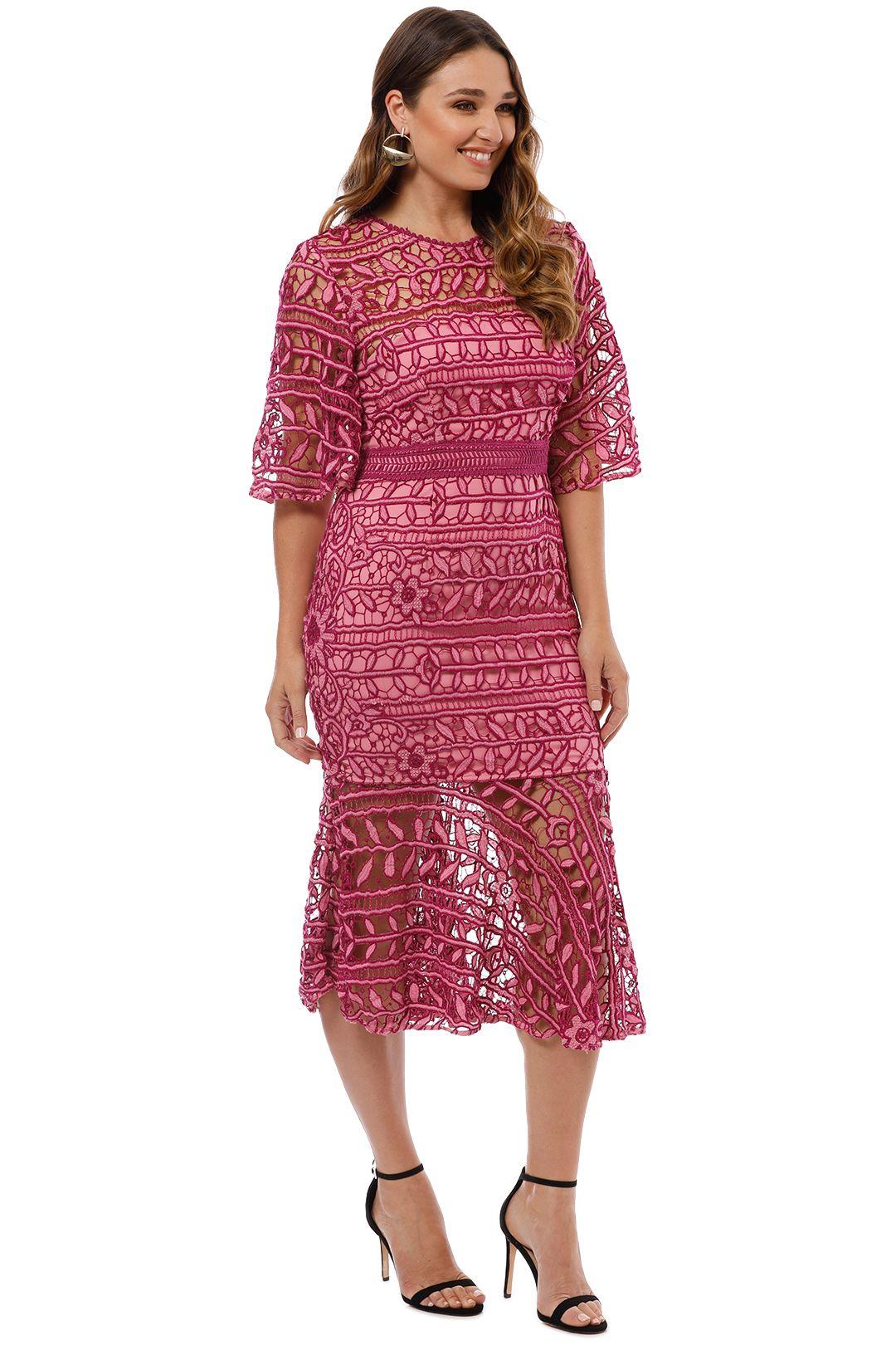 Talulah - Caprice Midi Dress - Pink Multi - Side