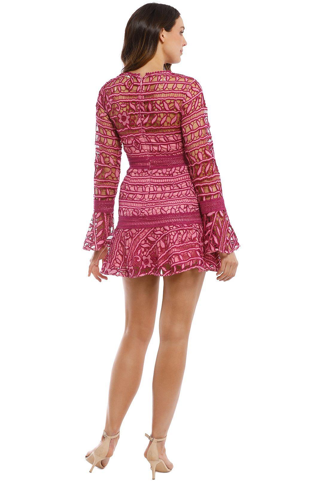 Talulah - Caprice Mini Dress - Multi Pink - Back
