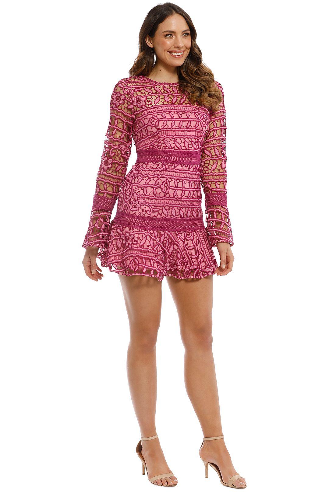Talulah - Caprice Mini Dress - Multi Pink - SIde
