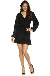 Talulah - Chaleur LS Mini Dress - Black - Front