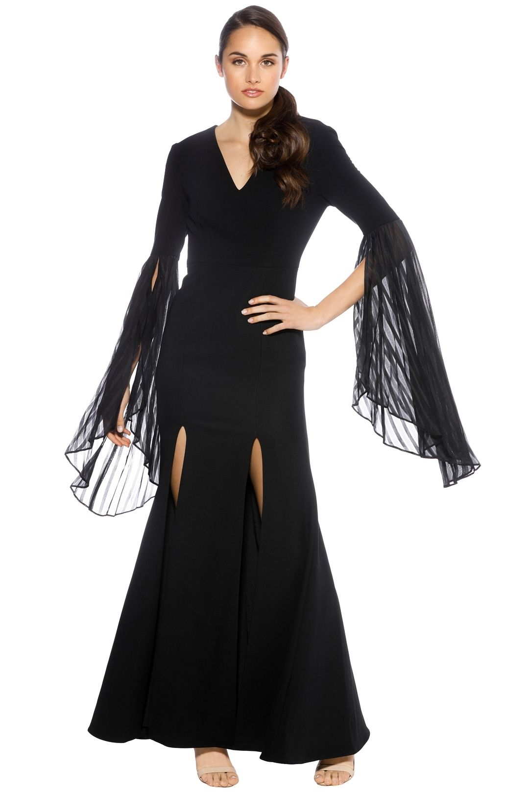 Talulah - Cirso Flared Sleeve Gown - Black - Front