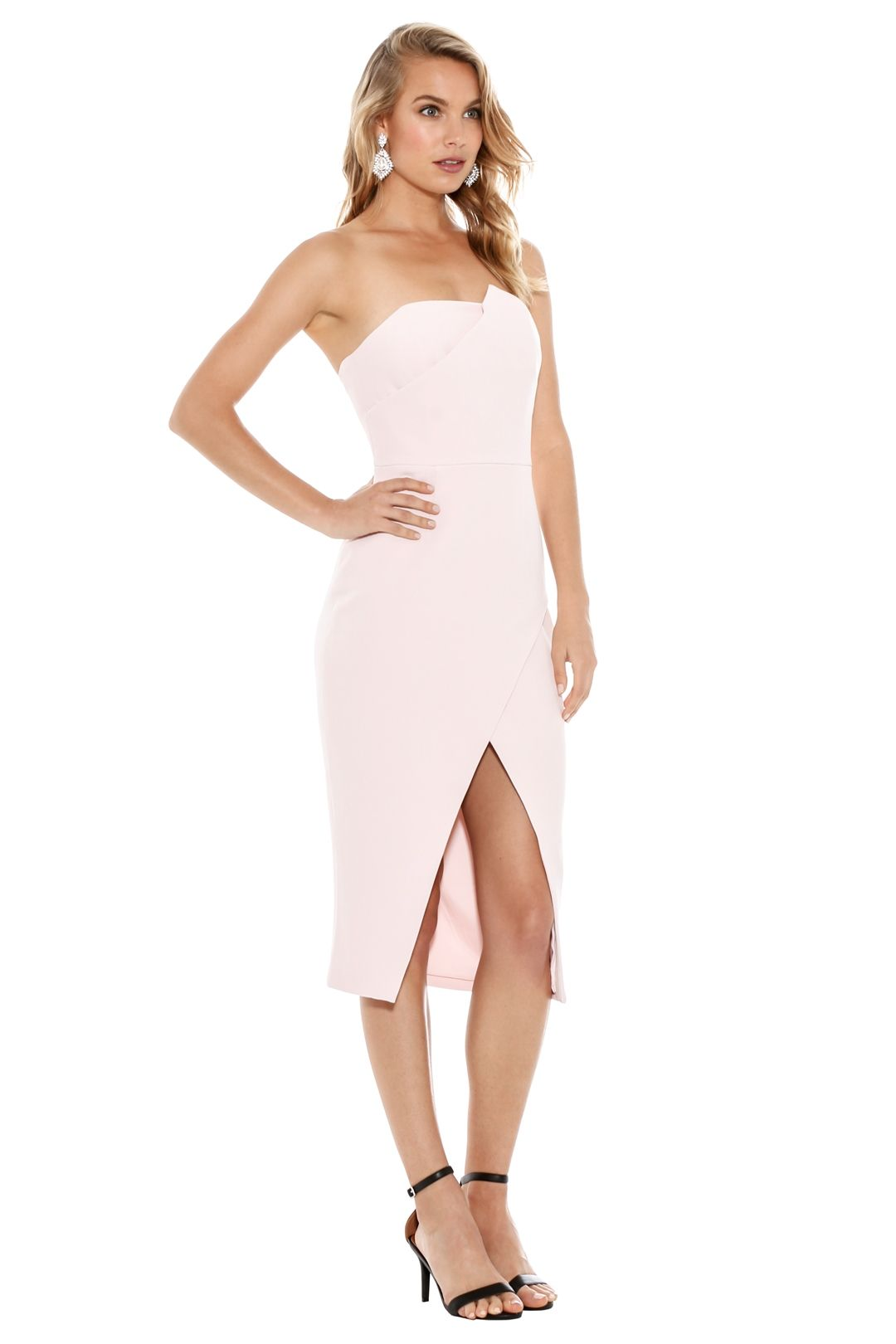 Talulah - Could It Be Midi Dress - Light Pink - Side