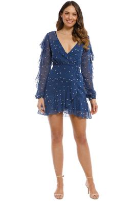 Talulah - Dalliance Mini Dress - Navy - Front