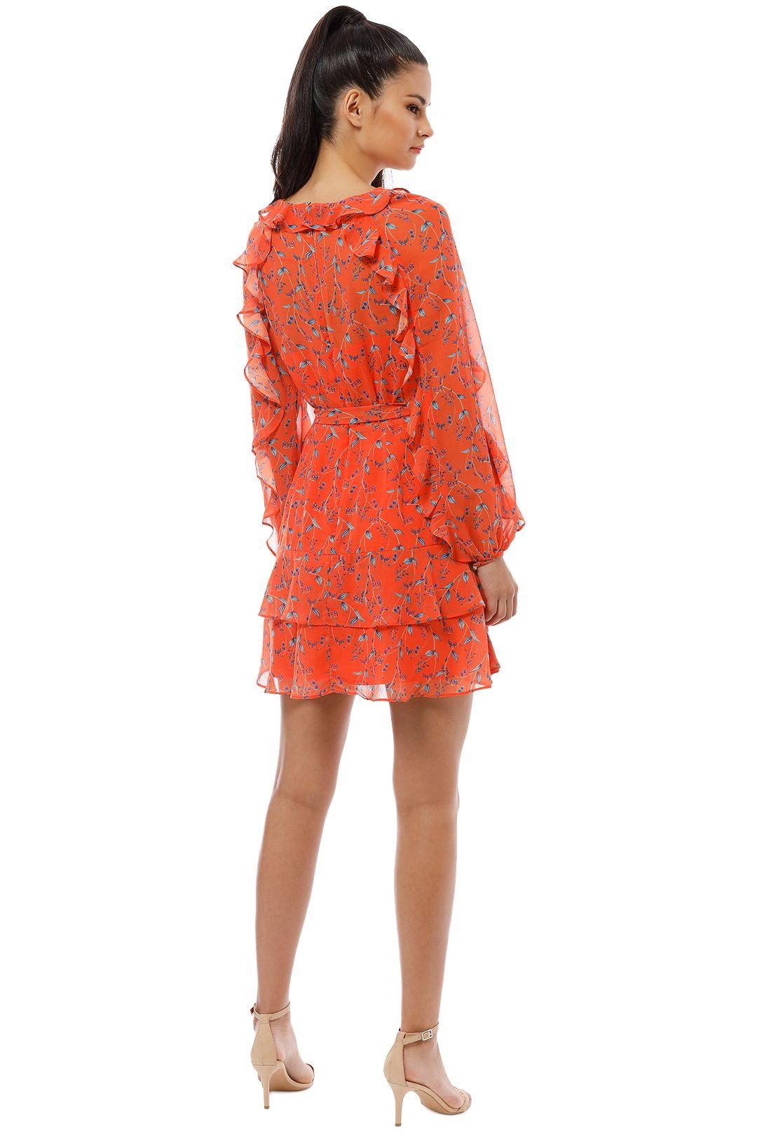 Talulah - Daring Day LS Mini Dress - Orange - Back