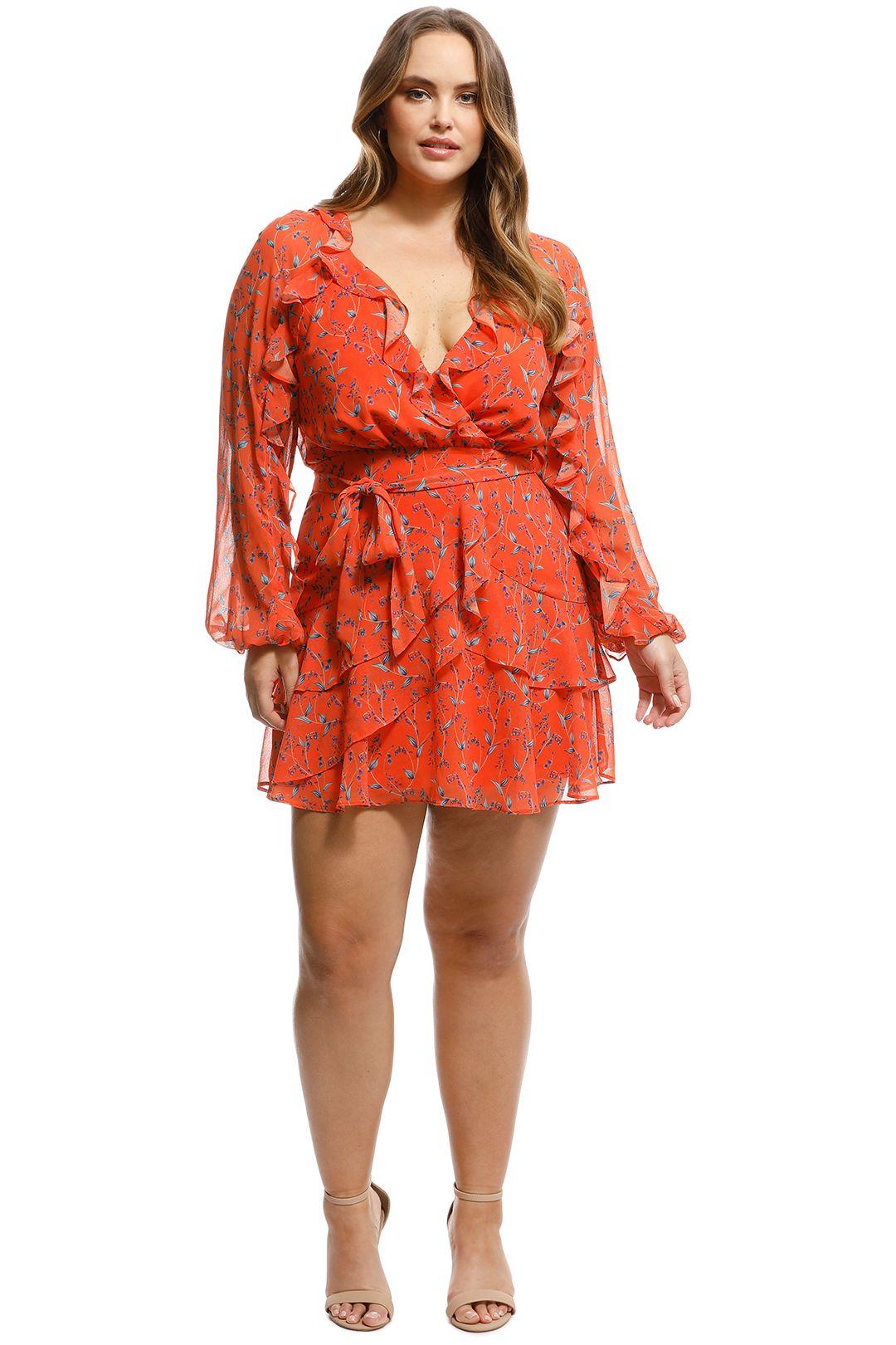 Talulah - Daring Day LS Mini Dress - Orange - Front