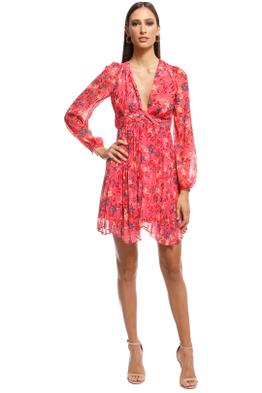 Talulah - Daze LS Mini Dress - Pink - Front