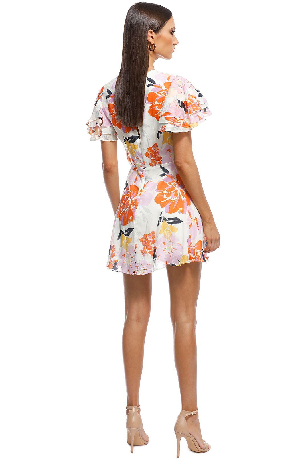 Talulah - Effervescent Mini Dress - Ivory Floral - Back