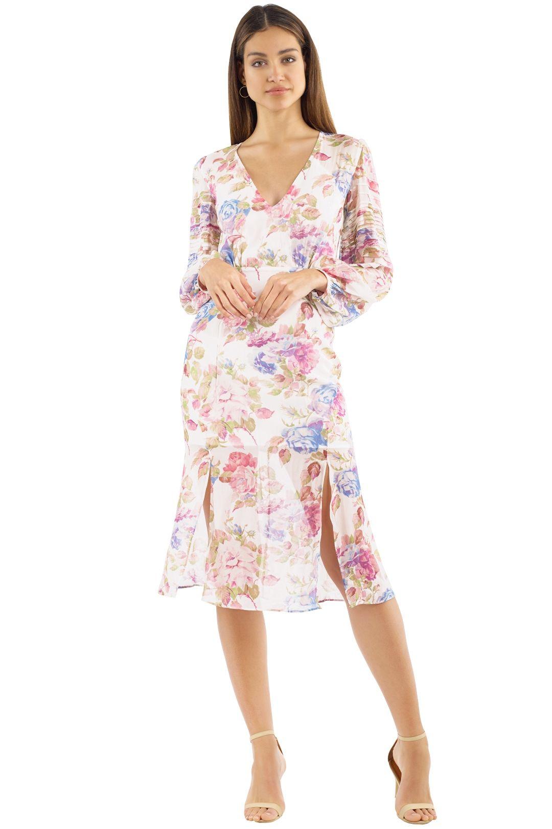 Talulah - Epiphany Midi Dress - Pink Multi - Front