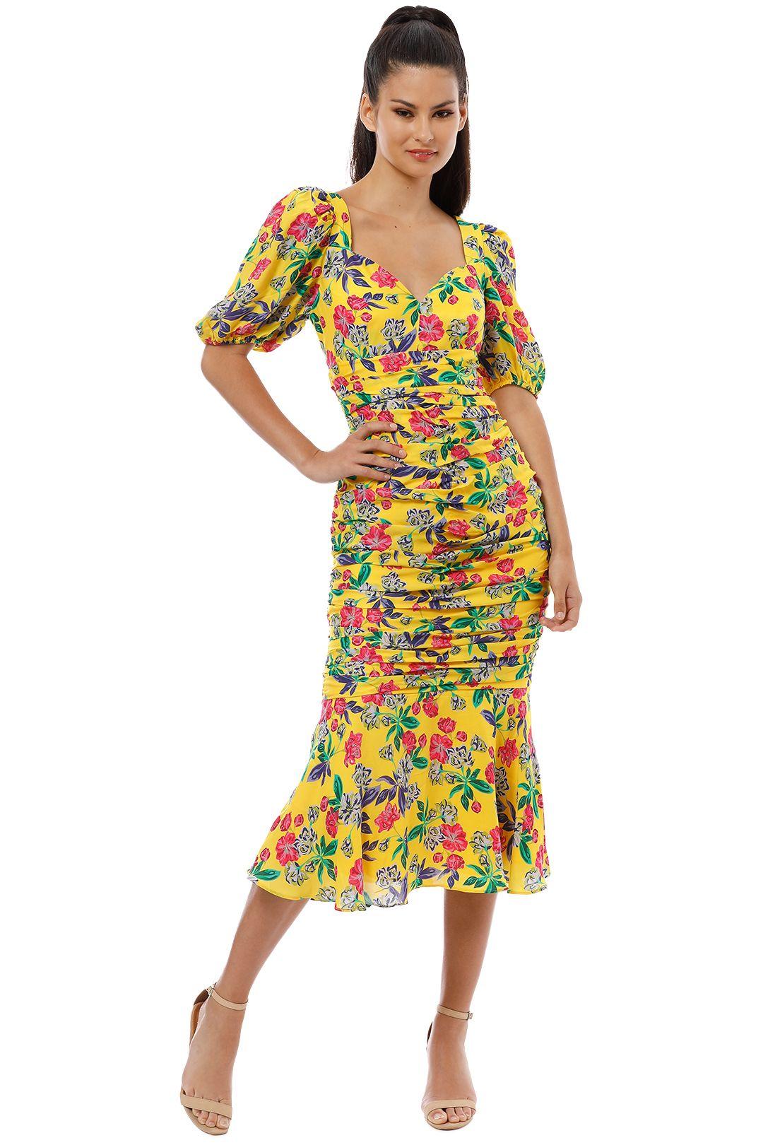 Talulah - Finch Midi Dress - Wildberry Sunrise - Front