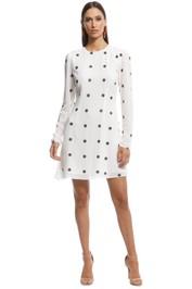 Talulah - Forget Me Not LS Mini Dress - Black and White - Front
