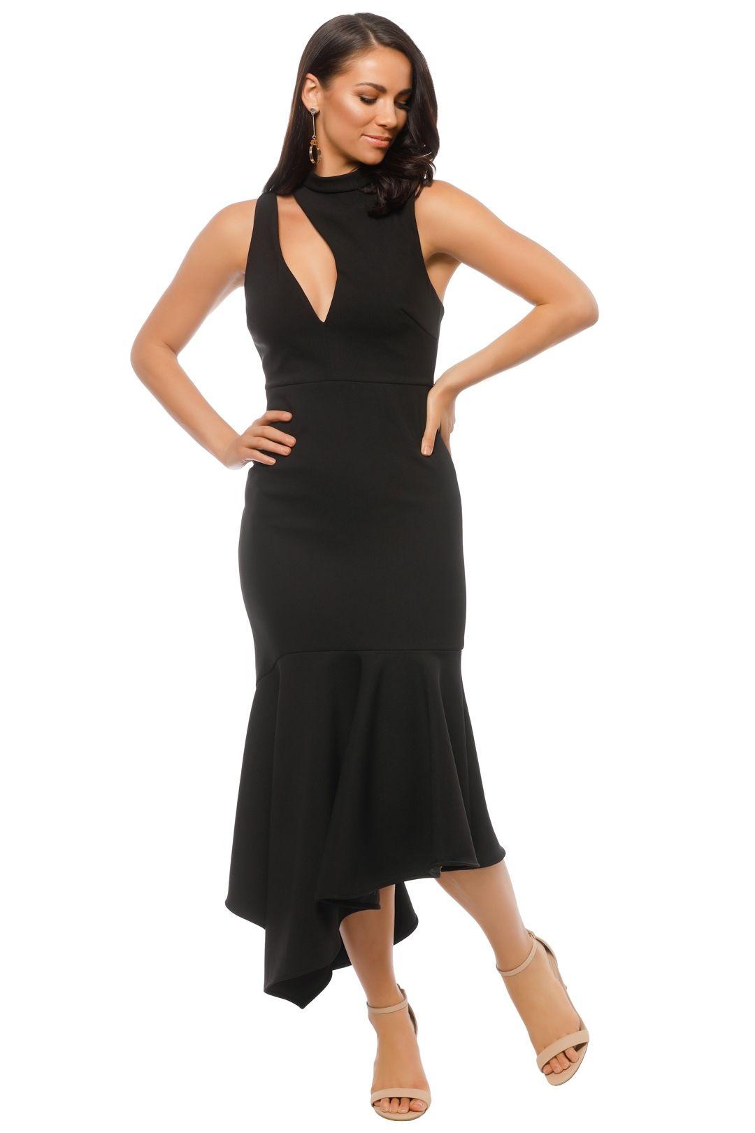 Talulah - Foundation Midi Dress - Black - Front