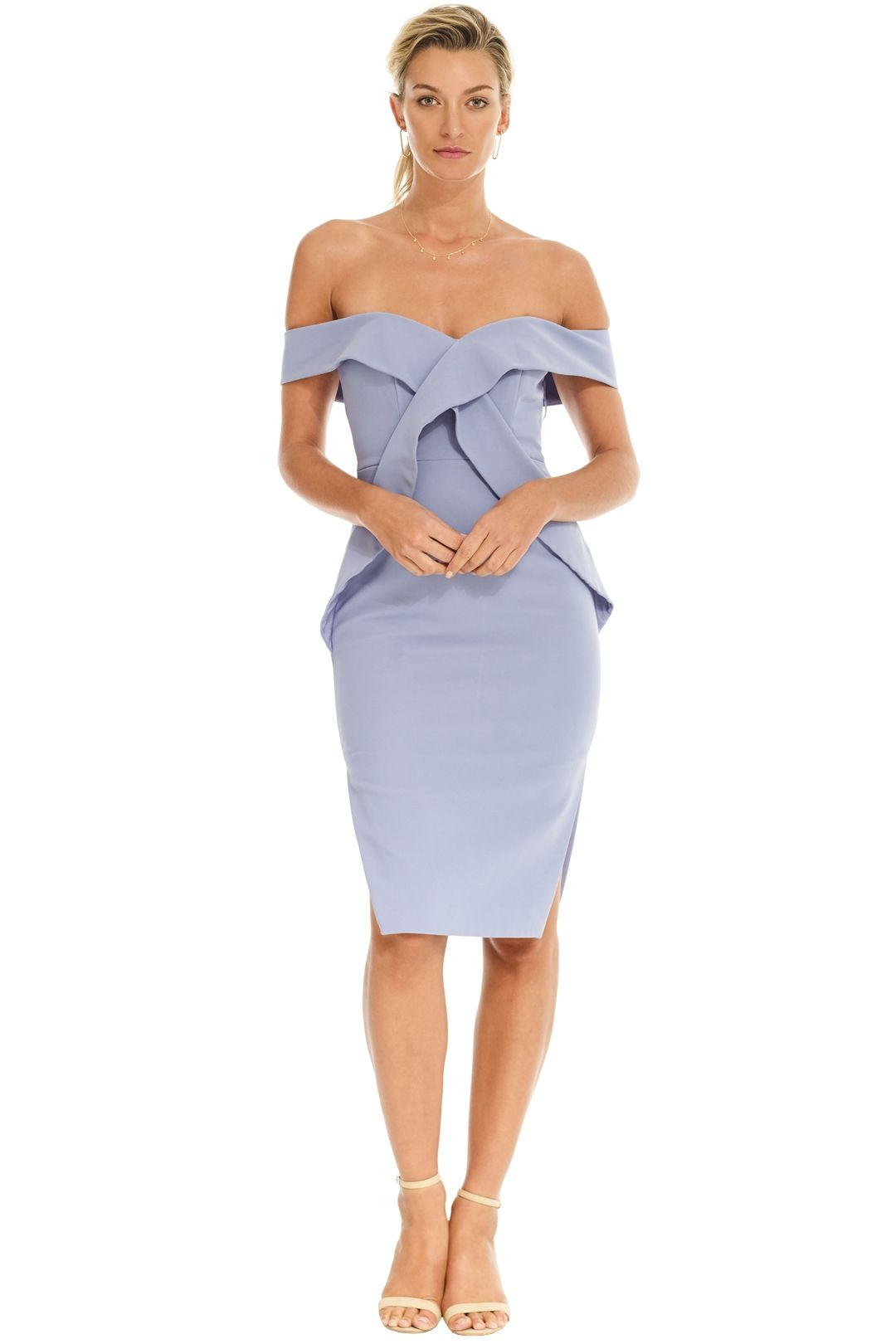 Talulah - Indira Bodycon Dress - Blue - Front