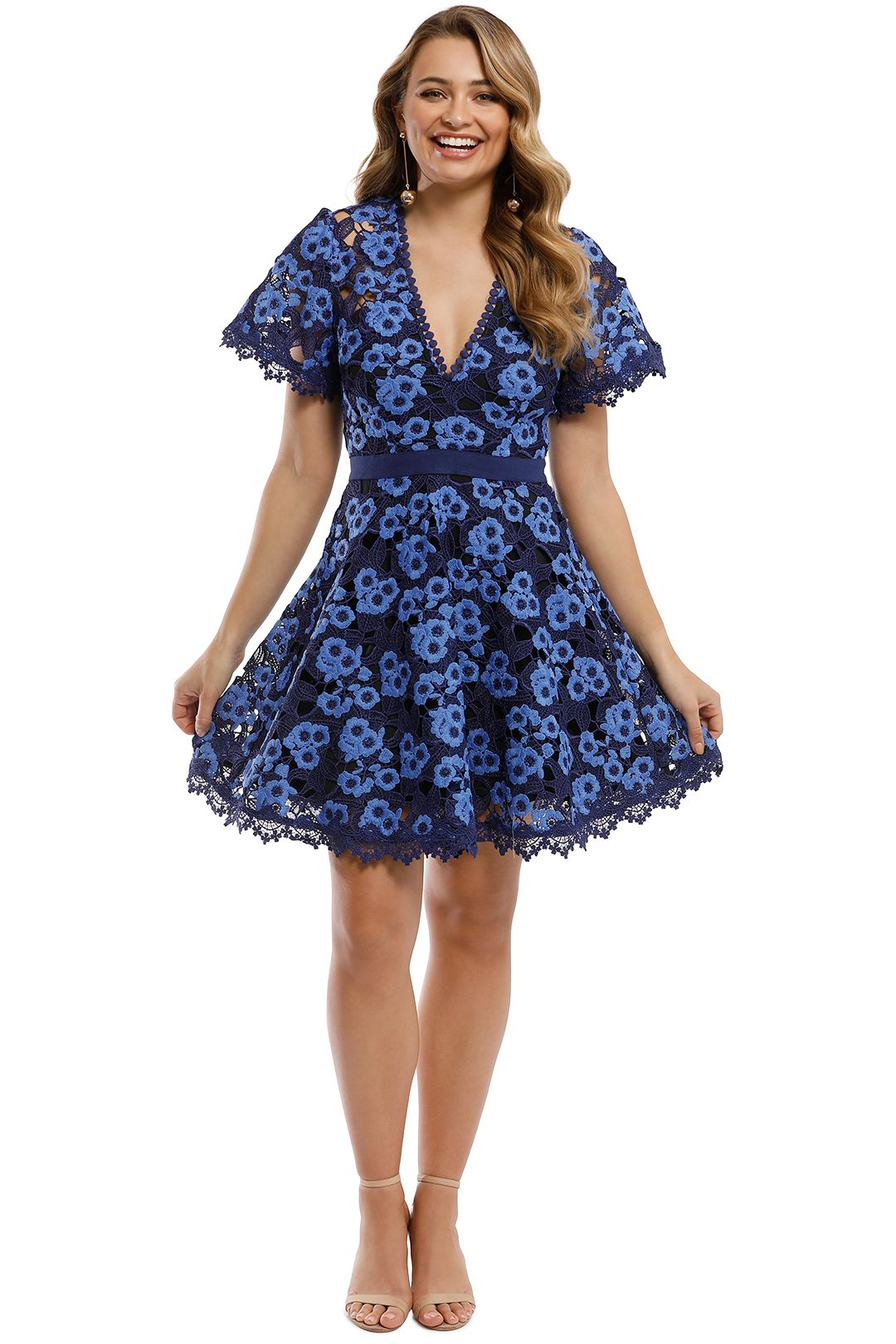 Talulah - Infatuation Mini Dress - Navy - Front