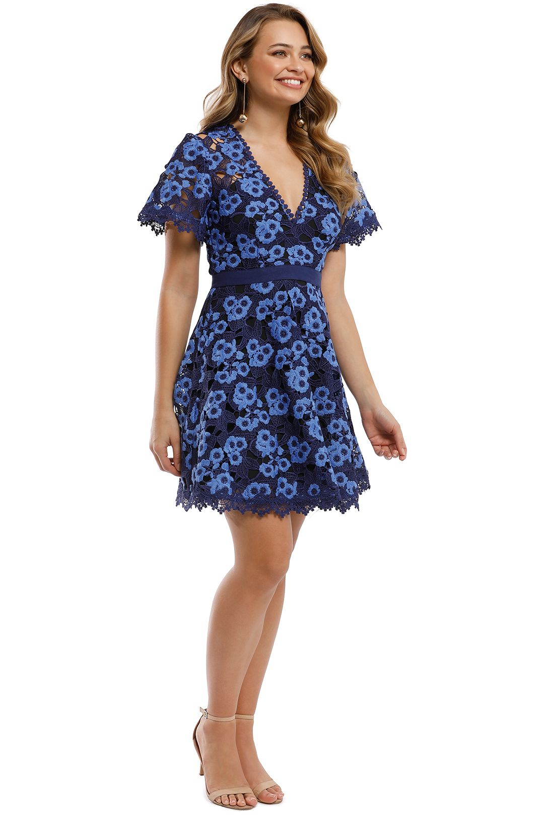 Talulah - Infatuation Mini Dress - Navy - Side