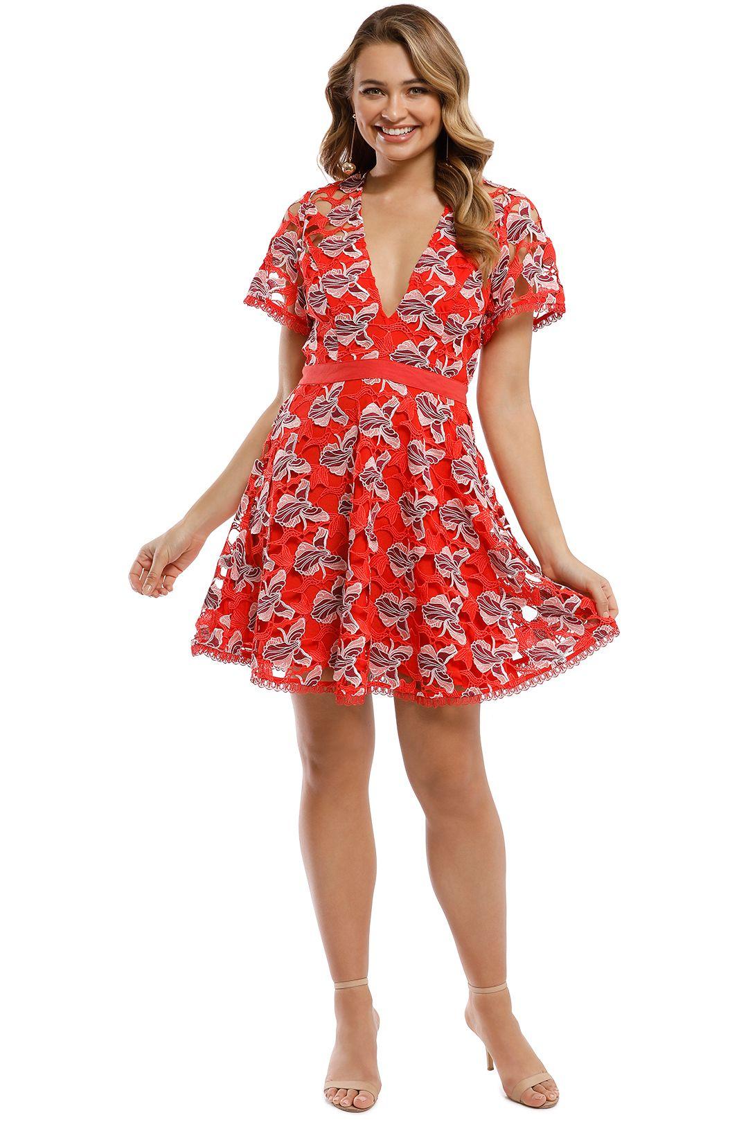 Talulah - Infatuation Mini Dress - Red Multi - Front
