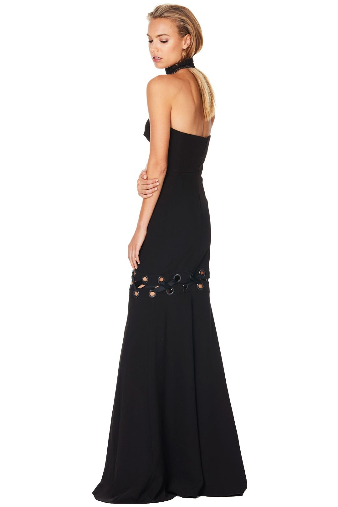 Talulah - Lace Me Gown - Black - Back