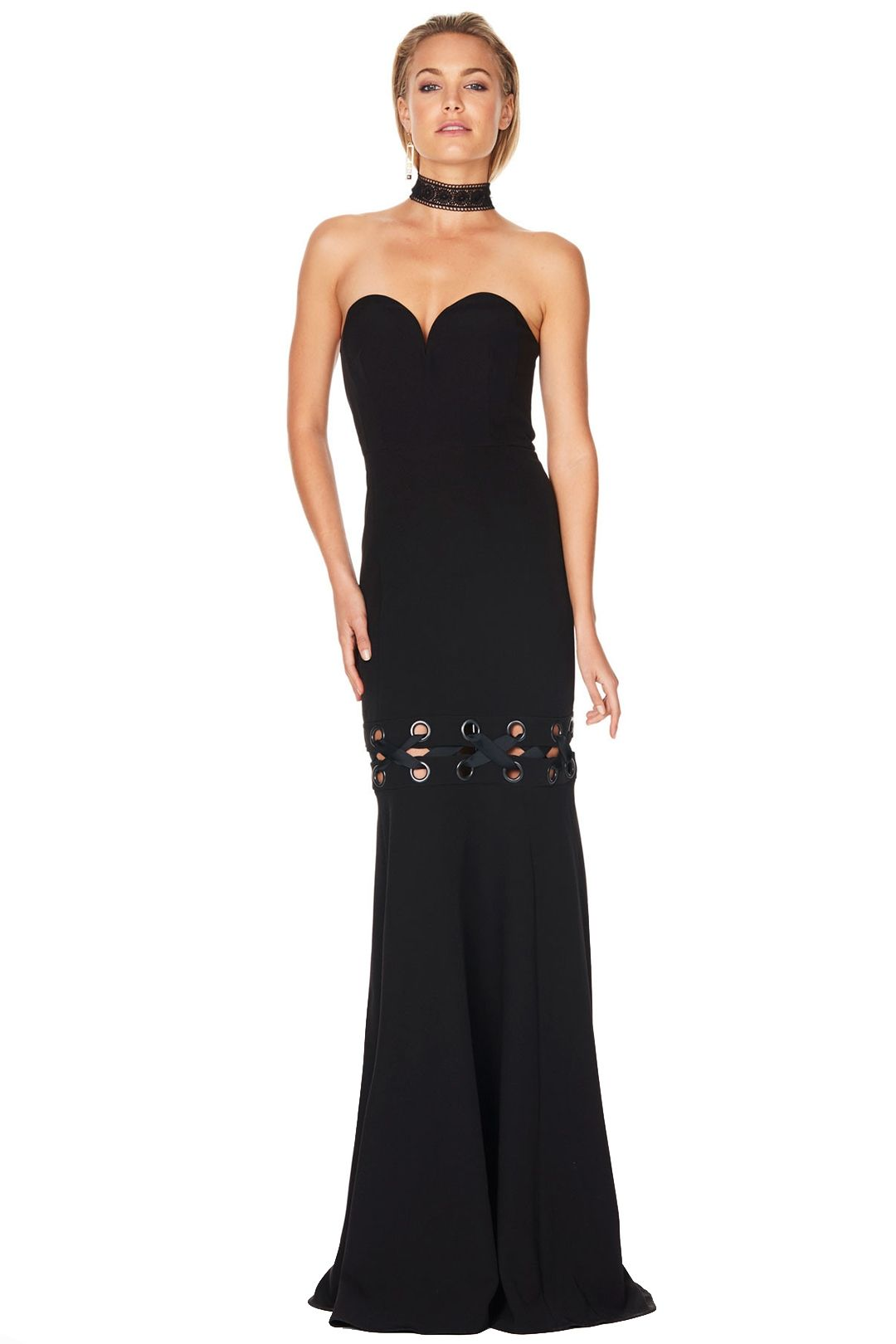 Talulah - Lace Me Gown - Black - Front