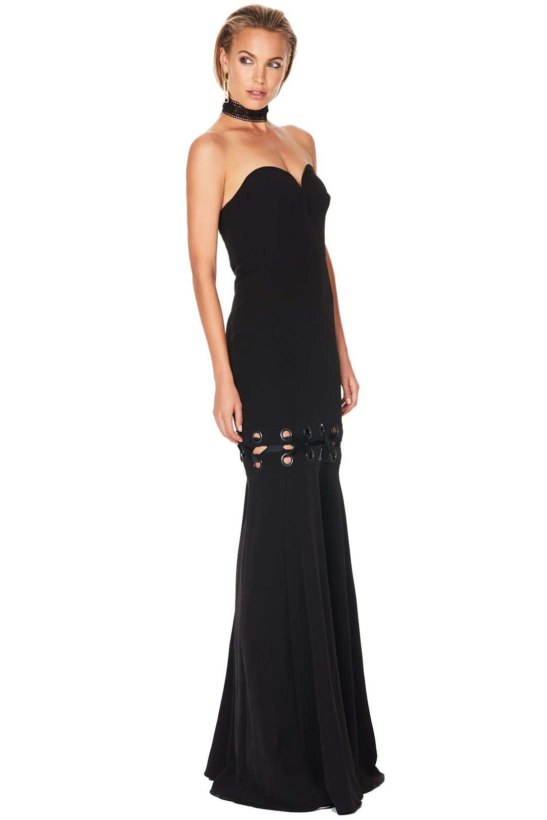 Talulah - Lace Me Gown - Black - Side
