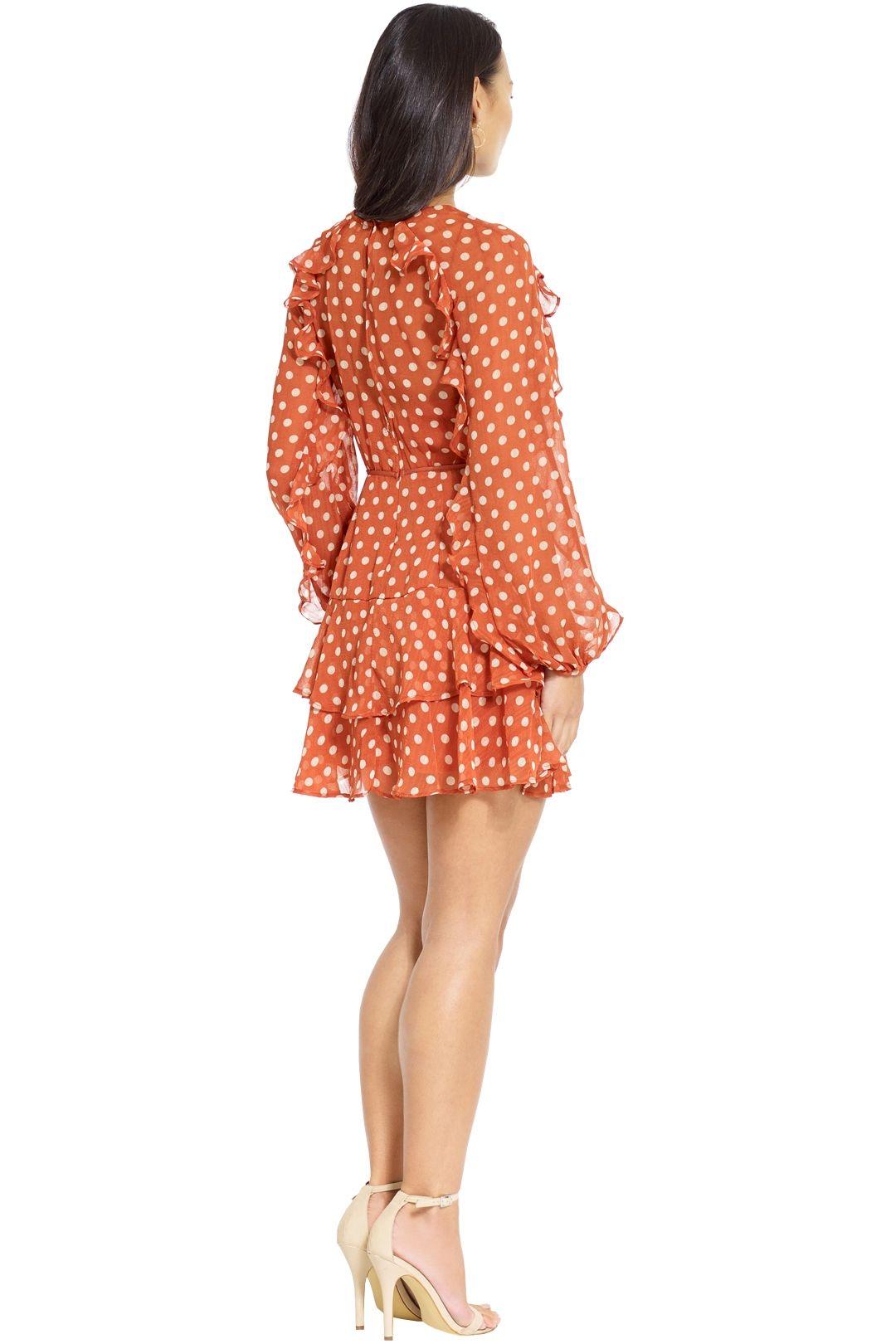 Talulah - Love Token Mini Dress - Salmon - Back