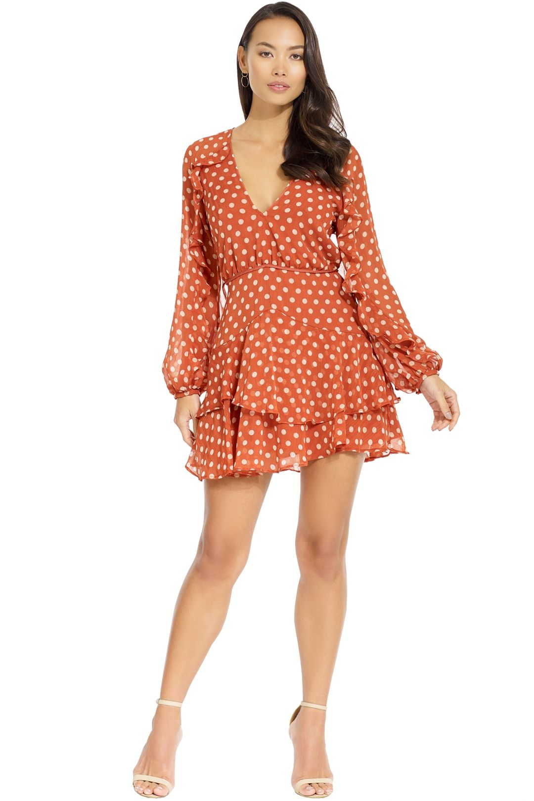 Talulah - Love Token Mini Dress - Salmon - Front