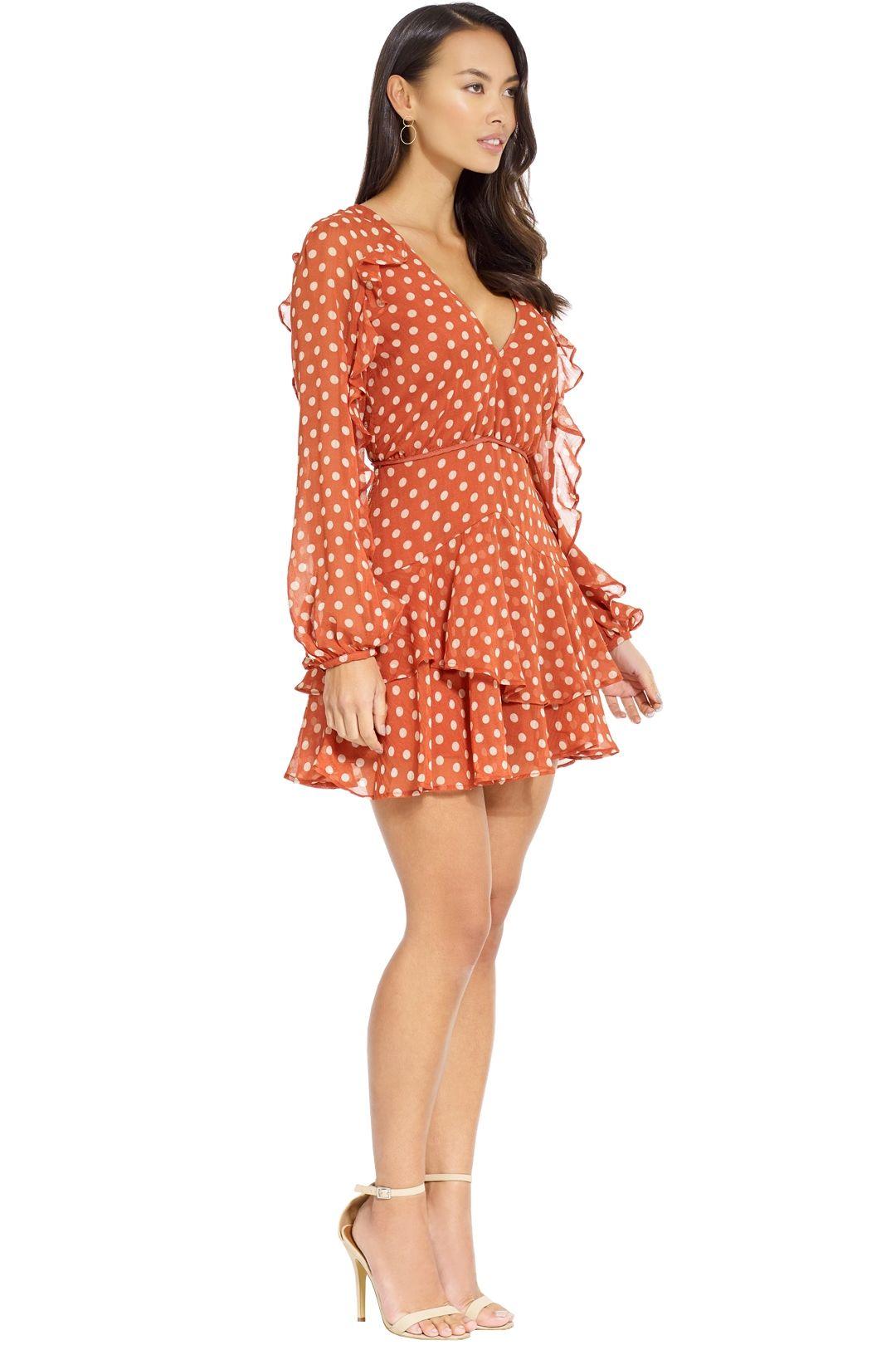 Talulah - Love Token Mini Dress - Salmon - Side