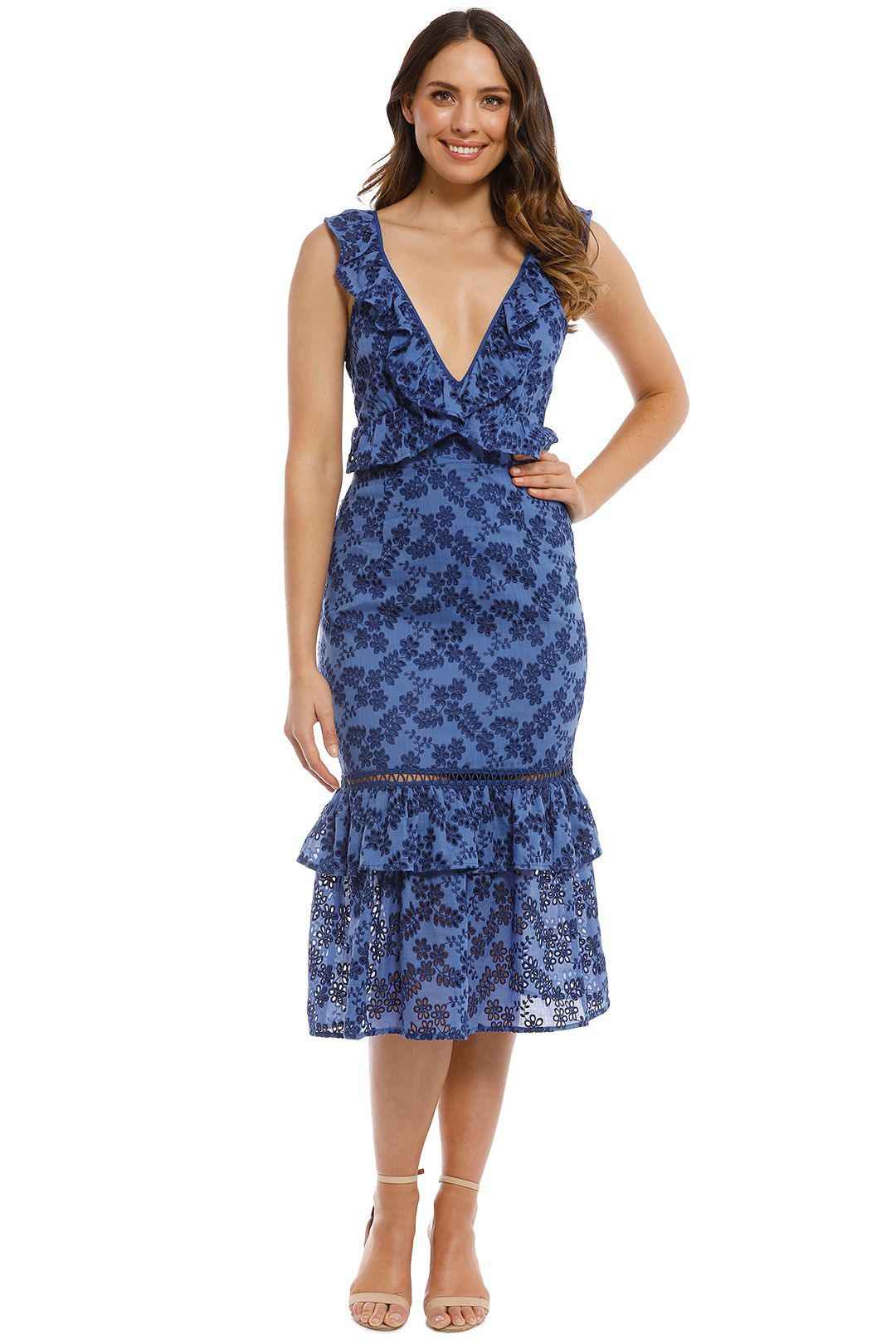 Talulah - Luna Midi Dress - Navy - Front
