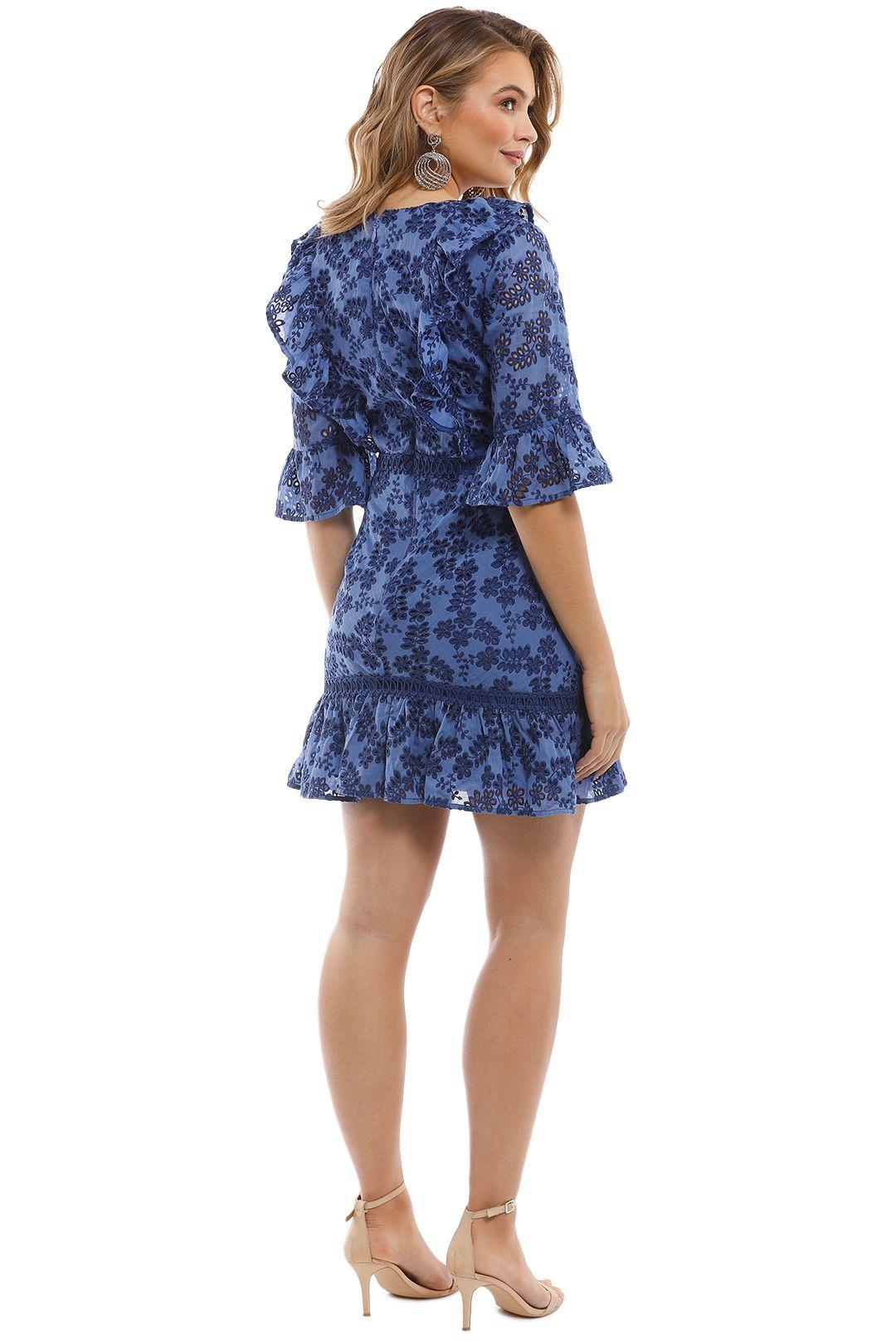 Talulah - Luna Mini Dress - Blue - Back