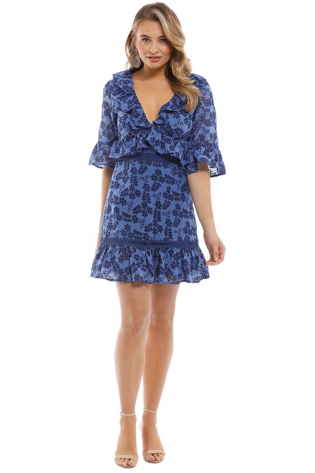 Talulah - Luna Mini Dress - Blue - Front