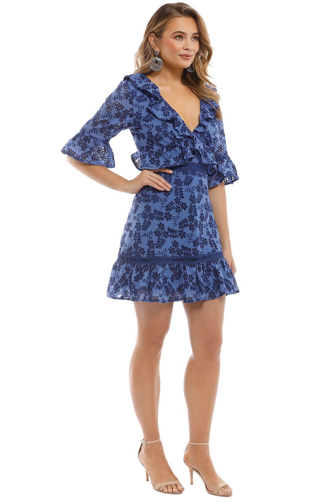 Talulah - Luna Mini Dress - Blue - Side