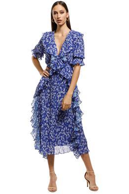 Talulah - Mediterranean Minx Midi Dress - Blue Floral - Front